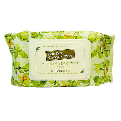 [THE FACE SHOP] Herb Day Cleansing Tissue_70 Sheet