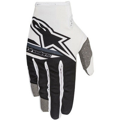 Alpinestars NEW Mx 2018 Radar Flight Black White Adults Motocross BMX Gloves