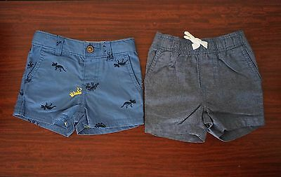 2 Pairs of Baby Boy CARTERS Shorts, Size 6 months, NWOT