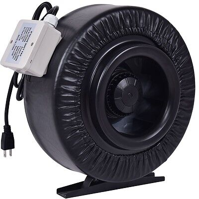 "4"" 6"" 8"" Inline Duct Fan Hydroponics Exhaust Cooling Blower Temperature Control"