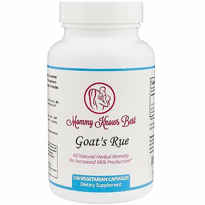 MOMMY KNOWS BEST Goats Rue Lactation Aid Support for Breastfeeding Mothers 120CT