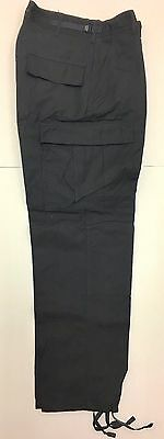 New Genuine US Military Issue Black BDU Cargo Pants Trousers Small Short