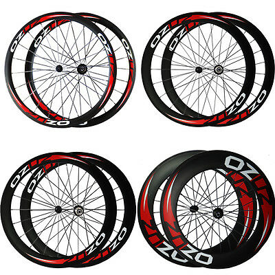700C Wheel Carbon Road Bike Bicycle R13 Wheelset OZUZ 50mm 88mm depth Tubular