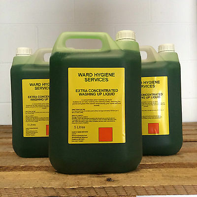 4 x Extra Concentrated Washing Up Liquid 30% 5ltr - BOX OF 4 - 5L 5 Litre