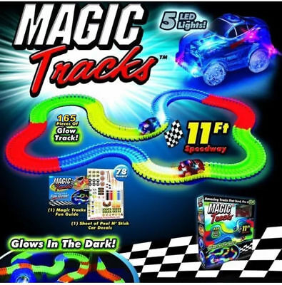 New Magic Tracks The Amazing Racetrack that Can Bend, Flex & Glow 11Ft