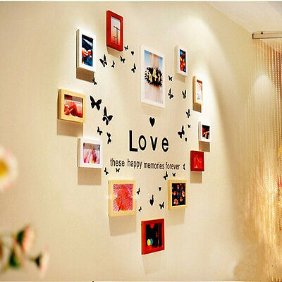 Love Butterfly Wall Art Stickers Vinyl Art For Family Photo Frame Decor Decal UK