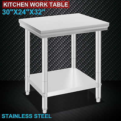 762mm x 610mm New Stainless Steel Kitchen Work Bench Food Prep Catering Table
