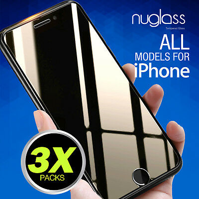 3 x NEW Nuglas Tempered Glass Screen Protector Film for iPhone 6 6s 7 Plus