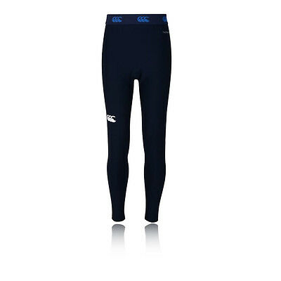 Canterbury Thermoreg Junior Blue Running Sports Long Tights Pants Bottoms