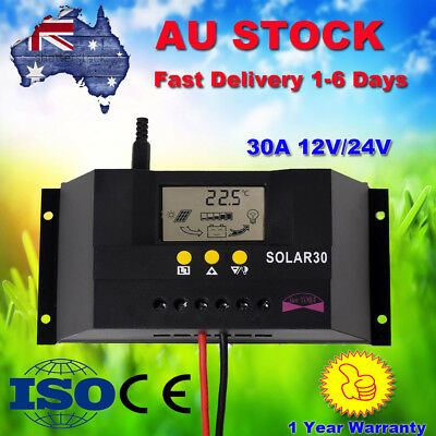 30A 60A Plus LCD Solar Panel Battery Charge Controller Regulator 12V 24V PWM GL