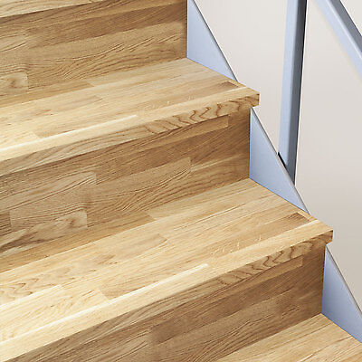 Solid Oak Timber Stair Cladding - 995mm Staircase Tread Refurbishment Kits