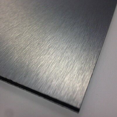 3mm Silver Brushed Dibond ACM Sheet Aluminium Composite 8 SIZES TO CHOOSE