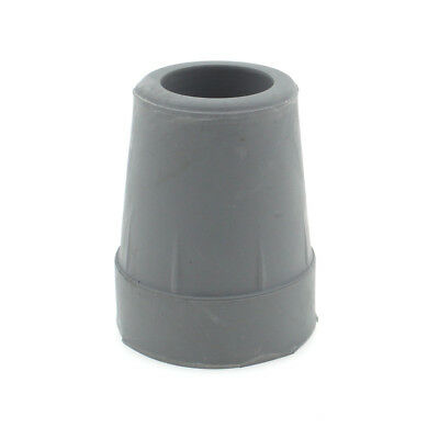 """19mm 3/4"""" GREY COMPACT RUBBER FERRULES FOR WALKING STICKS"""