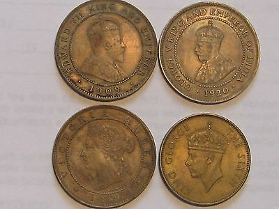 High Grade Coin Lot from Jamaica 1894, 1909, 1920 and 1950 Penny, No Reserve!