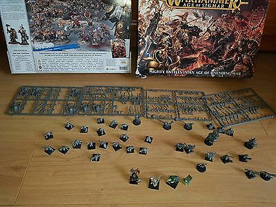 Warhammer Goblin Army - Spider riders on sprues, armored ogre+ horde of goblins