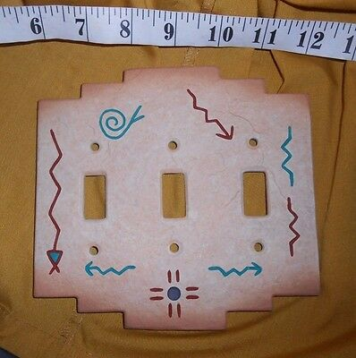 TRIPLE LIGHT SWITCH COVER Plate Southwestern Adobe Design w/ Texture