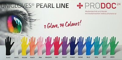 Unigloves Pearl Nitril Einmal Handschuhe Latexfrei Puderfrei Farbe
