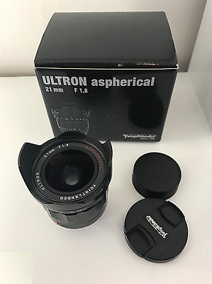 Voigtlander Ultron 21mm F/1.8 Aspherical Lens for Leica M, Sony, Fuji mirrorless