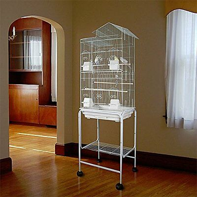 NEW Large Tall Canary Parakeet Cockatiel LoveBird Finch Bird Cage With Stand 735