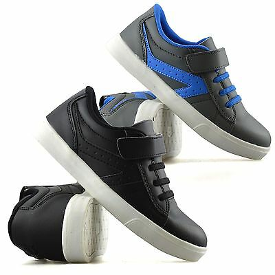 Boys Kids Childrens Casual Touch Strap Summer Sports Running Trainers Shoes Size
