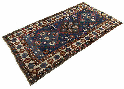 187x100 Antique Tappeto Carpet Tapis Teppich Alfombra Rug Russo Shirvan (Hand Ma