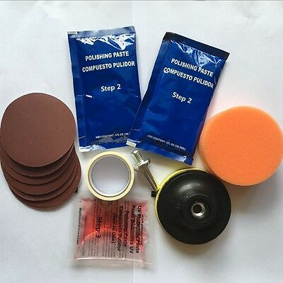 Headlight Headlamp Light Lamp Cleaning Restoration Plastic Polish Restorer Kit
