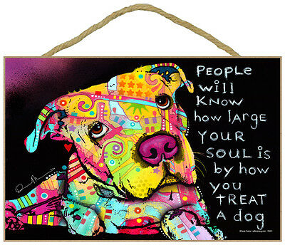 Pit Bull People Will Know Your Soul By How Dog Dean Russo Wood Plaque Sign