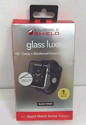 Zagg InvisibleShield Screen Protector Apple Watch Series 1 42mm Black Finish