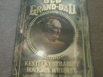 Vintage OLD GRAND DAD Mirror Head of the Bourbon Family Rare Barware Bar Whiskey