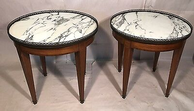 Pair Of Antique French Low Bouillotte Tables