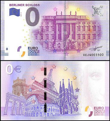 Zero (0) Euro Europe, 2017 - 3 (3rd Print), UNC, Berliner Schloss in Germany
