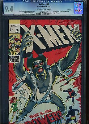 X-Men#56 CGC 9.4 Type 1A U.S Published (1st print) U.K Pence cover price Variant