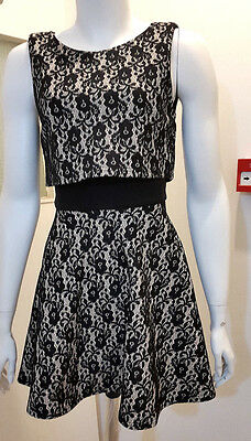 2a0945fcf1 New Club L Sleeveless Skater Dress with Overbodice