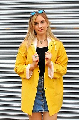 Unisex Ladies/Mens Yellow Mac Raincoat Fishermans Jacket - XS S M L