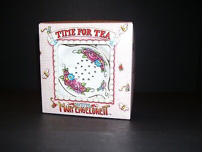 2 pc Mary Engelbreit Time for Tea Classic Strainer Fine Bone China