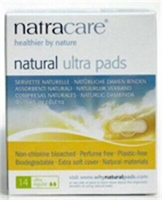 Natracare 3001 Natural Ultra Regular Pads With Wings 14 Count