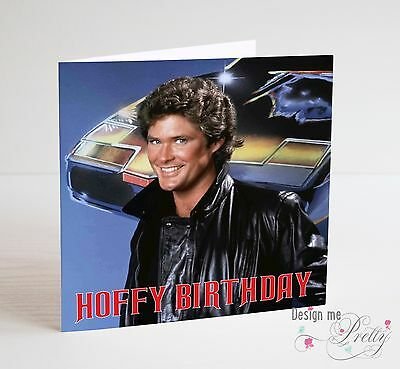 Hoffy Birthday David Hasselhoff Birthday Card Knight Rider
