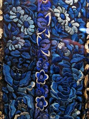 19th c. Chinese Needlepoint Panel (Border Piece) in Shades of Blue