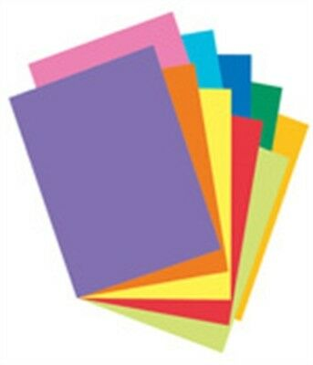 """Pacon 101169 8-1/2"""" X 11"""" Card Stock Assorted Colors 100 Count"""