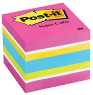 """3M 2051-FLT 2"""" X 2"""" Post-It® Note Cube Assorted Neon & Ultra Colors"""