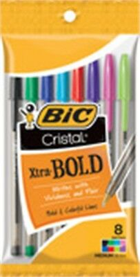 Bic MSBAP81-AST BIC Crystal Extra Bold Assorted Colors 8 Count