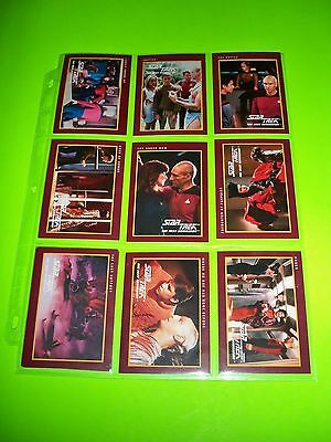 LOT OF 191 STAR TREK The Next Generation 1991 Set of even numbers Trading Cards