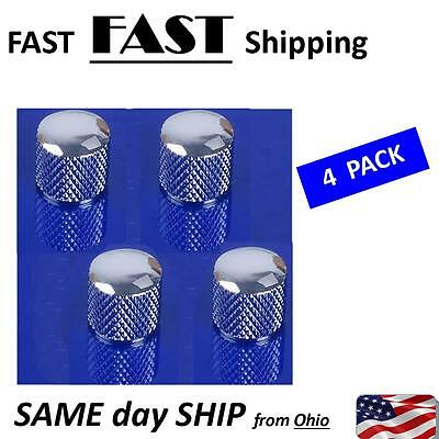4 Pcs Metal Electric Guitar Bass Tuning Dome Tone Knob Knobs for Tele Silver