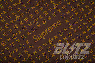 6d9f0385799 LOUIS VUITTON X Supreme LV Monogram Box Logo Bandana Red 100% Cotton ...
