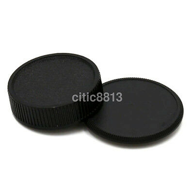 2pcs/set 42mm Plastic Front Rear Cap Cover For M42 Digital Camera Body & Lens AU