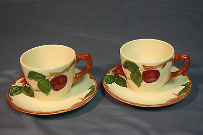Franciscan Apple Coffee Cup and Saucer Set of 2