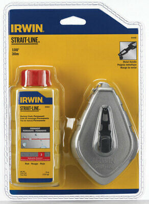 Irwin  4 oz. Red  Twisted  Chalk and Reel Set  100 ft.