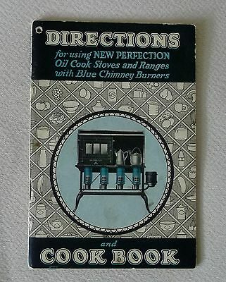 1922 Book Directions For Using New Perfection Oil Cook Stove& Cook Book