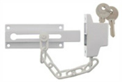 "Ultra Hardware 44811 6.5"" White Door Guard Chain"