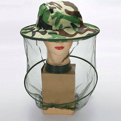 Outdoor Fishing Insect Mosquito Repellent Hat Camouflage Face Mesh Caps